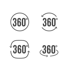 360 degrees view sign icon design symbol vector