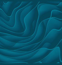Abstract background from blue paper waves vector