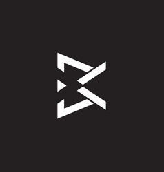 Abstract letter bk triangle simple geometric flat vector