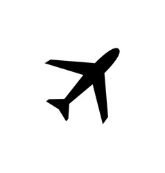 airplane icon in flat style for app ui websites vector image