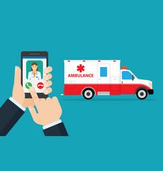 Application to call ambulance vector