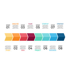 arrows timleline infographic growth vector image