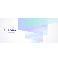 Aurora borealis abstract background - white vector