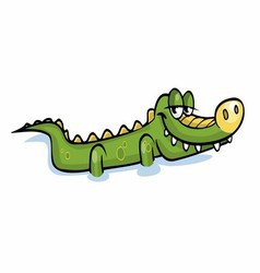 Baby Cute Crocodile vector image