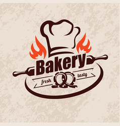 bakery stylized emblem or label in retro style vector image