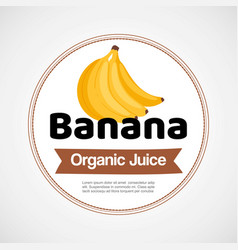 banana label or logo in circle vector image