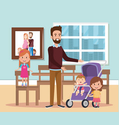 best father in the dining room characters vector image