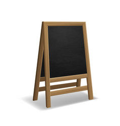 black wooden food menu board realistic restaurant vector image