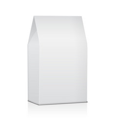 Blank paper food bag package of coffee salt vector