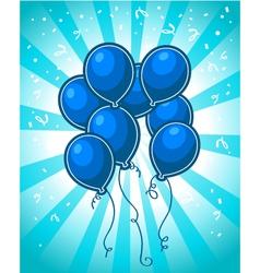 Blue Party Balloons vector