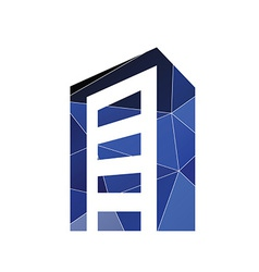 building icon Abstract Triangle vector image