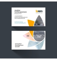 Business card template with geometric vector