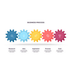 Business infographics process with 5 steps vector