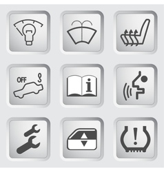 Car Dashboard icons 4 vector