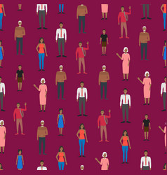 cartoon characters people african american vector image