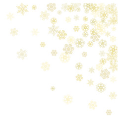 Christmas and new year snowflakes vector