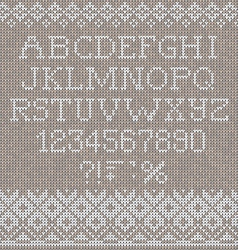 Christmas Font Scandinavian style seamless knitted vector image