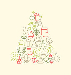 christmas icons background vector image