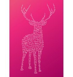 Christmas text shape reindeer composition EPS10 vector image