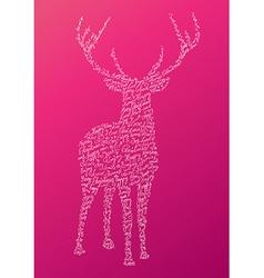 Christmas text shape reindeer composition EPS10 vector