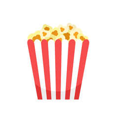 Cinema popcorn box icon flat style vector