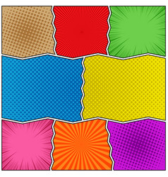 Comic book colorful template vector