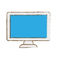Computer frontview icon image vector