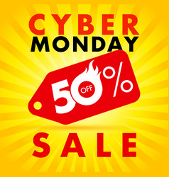 cyber monday discount label hot sale vector image