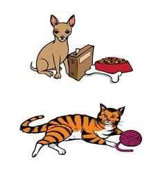 Dog cat pets vector