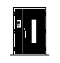 Door with intercom security system vector