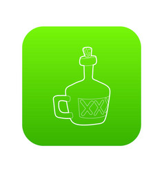 drink icon green vector image