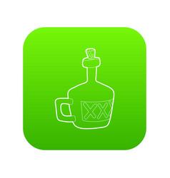 Drink icon green vector