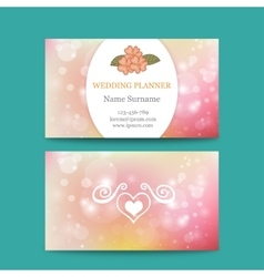 Elegant feminine business card template vector