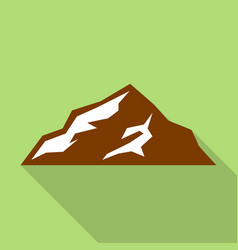 European mountain icon flat style vector