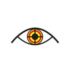 Eye Looking Like Target vector image