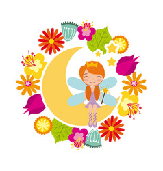 fairy girl icon vector image