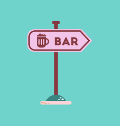 flat icon on background sign of bar vector image