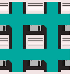 floppy disc seamless pattern vector image