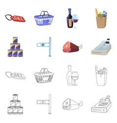 food and drink symbol set vector image