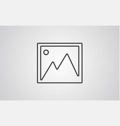 gallery icon sign symbol vector image