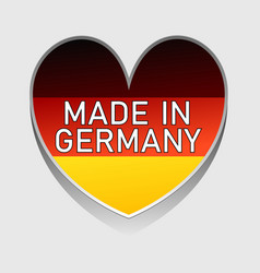 german national colored heart with text made in vector image