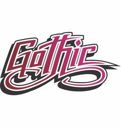Gothic logo vector