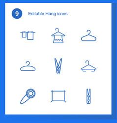 hang icons vector image