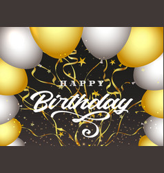 happy birthday dark background vector image