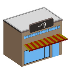 isolated ice cream shop vector image