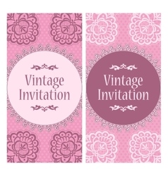 lace design template vector image