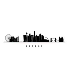 london city skyline horizontal banner black and vector image