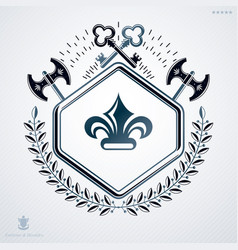 luxury heraldic emblem template made using vector image