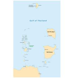 map islands koh samui and koh pha ngan vector image