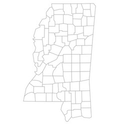 map of mississippi vector image